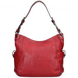 Dámská kožená kabelka Hexagona Elena - červená