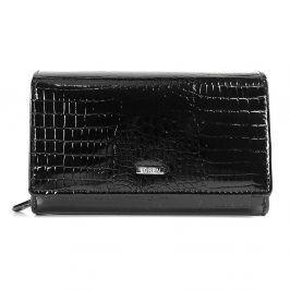 Dámská kožená peněženka Loren Stela - černá