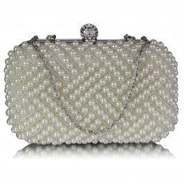 Dámské perličkové psaníčko LS Fashion Claire - ivory