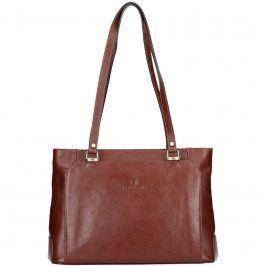 Luxusní kožená dámská kabelka Hexagona 111851A - hnědá