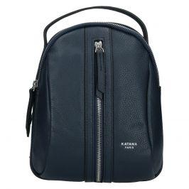 Menší dámský kožený batoh Ninnas Katana - tmavě modrá