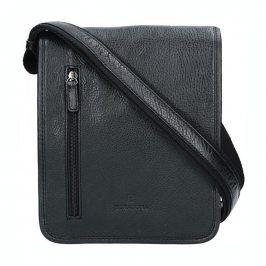 Pánská kožená taška přes rameno Hexagona 129483 - černá