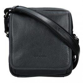 Pánská kožená taška přes rameno Hexagona 129898 - černá