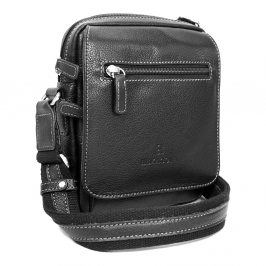 Pánská kožená taška na doklady Hexagona 463993 - černá