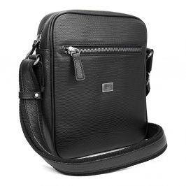 Pánská kožená taška přes rameno Hexagona 854017 - černá