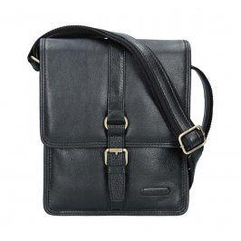 Pánská celokožená taška Katana Bertam - černá