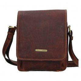 Pánská kožená taška přes rameno SendiDesign Merkur  - hnědá