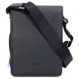 Pánská celokožená taška na doklady Katana Klope - černá