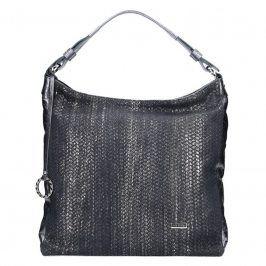Dámská kožená kabelka Facebag Margaret - stříbrná