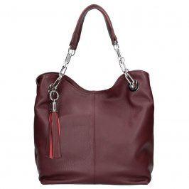 Dámská kožená kabelka Facebag Sofia - vínová