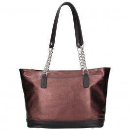 Dámská kožená kabelka Facebag Marika - vínová