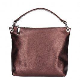 Dámská kožená crossbody kabelka Facebag Lóra - vínová