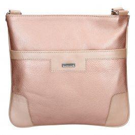 Dámská kožená crossbody kabelka Facebag Ghita - růžová