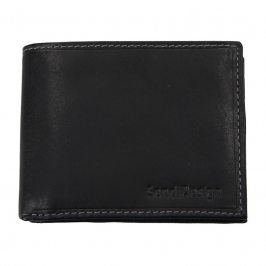 Pánská kožená peněženka SendiDesign 6001 (P) VT - černá