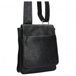 Pánská kožená taška přes rameno SendiDesign CT707 - černá