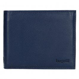 Pánská kožená peněženka Bugatti Sempre - modrá