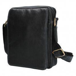 Pánská kožená taška přes rameno SendiDesign CT006 - černá
