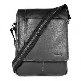 Pánská kožená taška přes rameno SendiDesign IG701 - černá