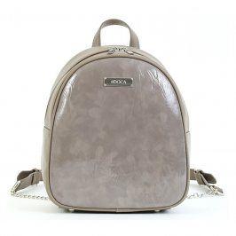 Dámský batoh Doca 15535 - tmavě béžová