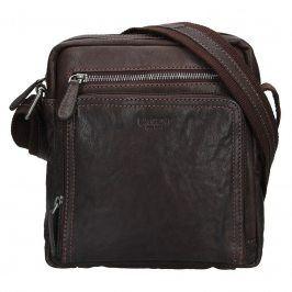 Pánská kožená taška přes rameno Lagen Čestmír - hnědá