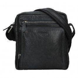 Pánská kožená taška přes rameno Lagen Čestmír - černá