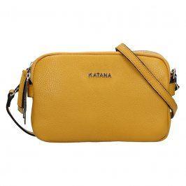 Kožená dámská crosbody kabelka Katana Patricia - žlutá