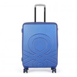 Cestovní kufr United Colors of Benetton Kanes M - modrá 74l