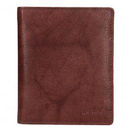 Pánská kožená peněženka Lagen Medard - hnědá