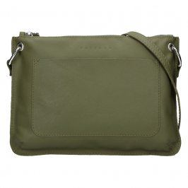 Trendy dámská kožená crossbody kabelka Facebag Nicol - olivová