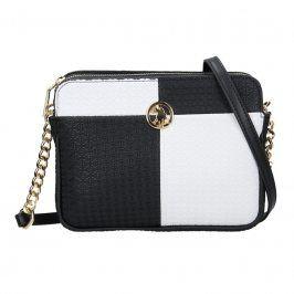 Dámská crossbody kabelka U.S. POLO Nicol - černo-bílá