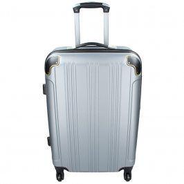Cestovní kufr Madisson Michaela L - stříbrná 101l