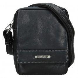 Pánská kožená taška přes rameno SendiDesign Morell - černá