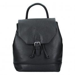 Elegantní kožený dámský batoh Hexagona Ghita - černá