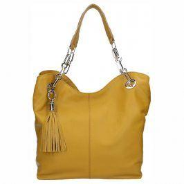 Dámská kožená kabelka Facebag Sofia - hořticová