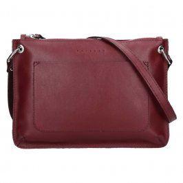 Trendy dámská kožená crossbody kabelka Facebag Nicol - vínová
