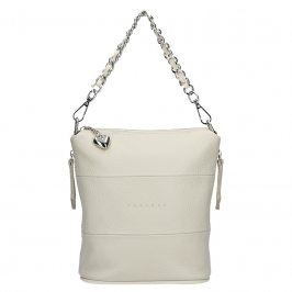 Dámská kožená kabelka Facebag Roberta - krémová