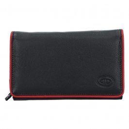 Dámská kožená peněženka DD Anekta Dita - černo-červená