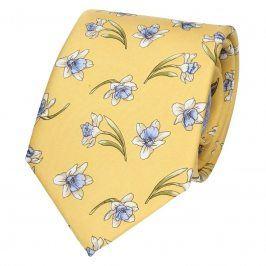Pánská hedvábná kravata Rietti Ryan - žlutá