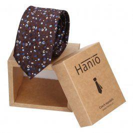 Pánská kravata Hanio Gavin - hnědá