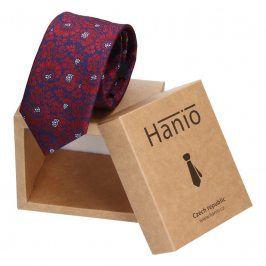 Pánská kravata Hanio Liam - modro - červená