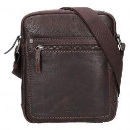 Pánská kožená taška přes rameno Lagen Dennis - hnědá