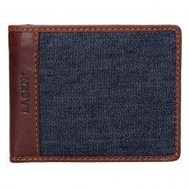 Pánská peněženka Lagen Sander - hnědo-modrá