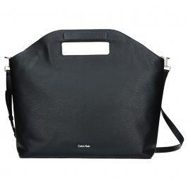 dKožená Dámská kabelka Calvin Klein Grand Sac Tote - černá