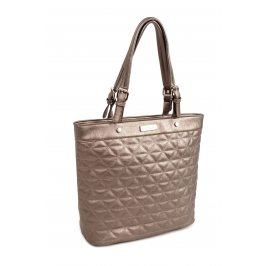 Dámská kabelka Doca 14116 - stříbrná