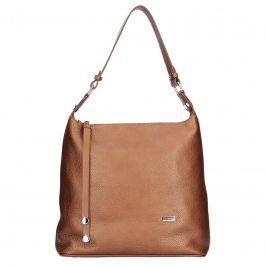 Dámská kožená kabelka Facebag Fionna glassy -  hnědá