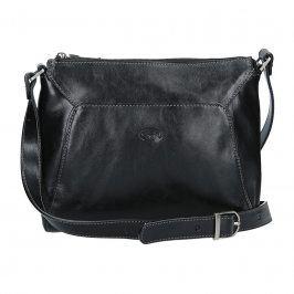 Kožená dámská crosbody kabelka Katana Selma - černá