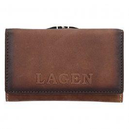 Dámská kožená peněženka Lagen Denisse - hnědá