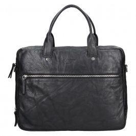 Pánská kožená business taška Lagen Porte - černá