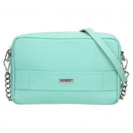 Trendy dámská kožená crossbody kabelka Facebag Nina - mentolová