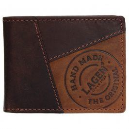 Pánská kožená peněženka Lagen Livren - hnědá